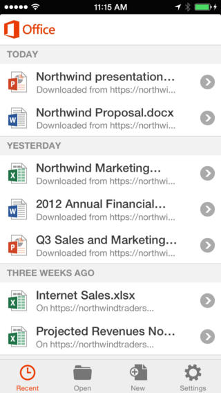 Microsoft Office Mobile App