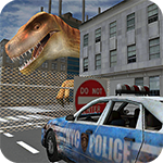 Dino in City-Dinosaur N Police Icon