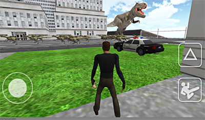 Dino in City-Dinosaur N Police Review