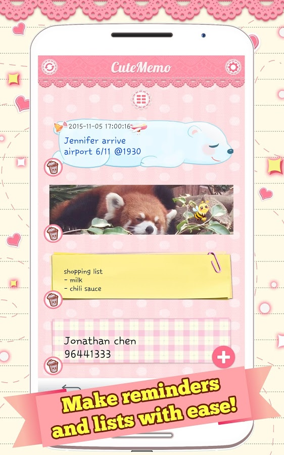Cute Memo App