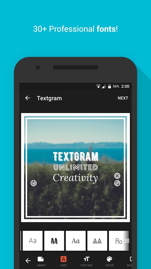 Textgram Text Image
