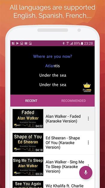 Karaoke 2018 App
