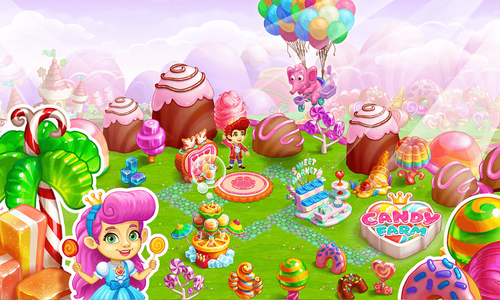 Sweet Candy Farm App