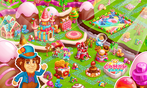 Sweet Candy Farm Game
