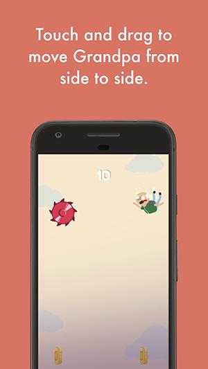 Falling Grandpa App