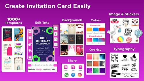 Invitation Maker Free App